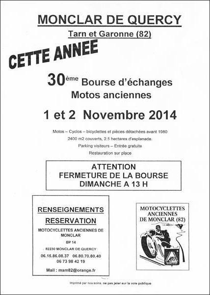 Bourse d'échange Monclar 2014